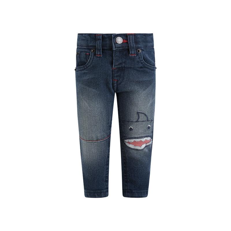 Jeans cu un imprimeu de monstru distractiv pentru băieți  1644