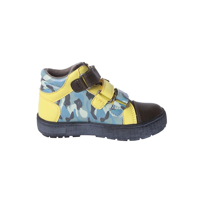 Pantofi pentru băieți cu accente galbene  1719