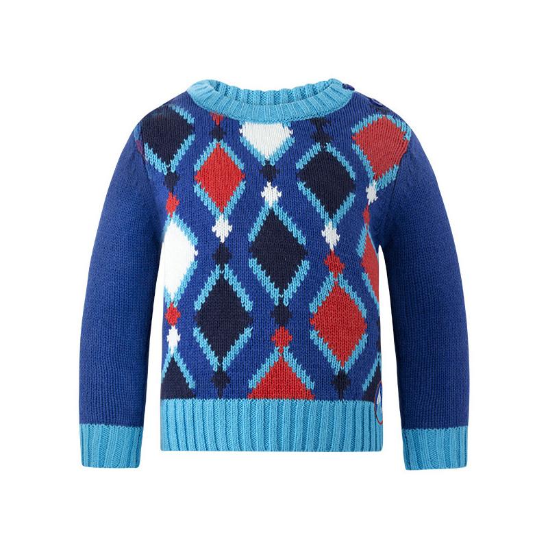 Pulover cu decor tricotat pentru băieți  1755
