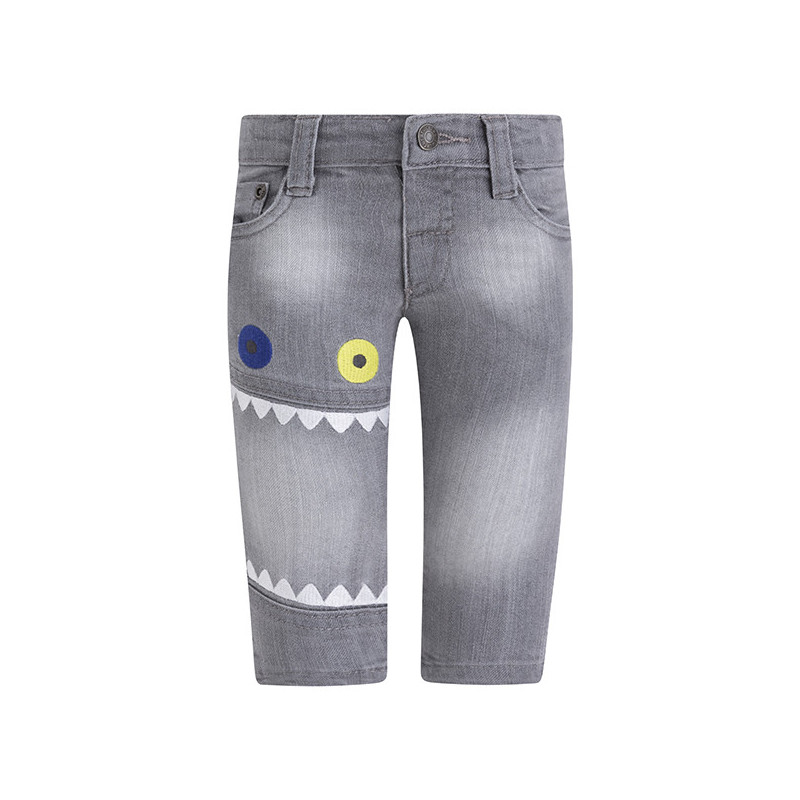 Jeans cu un imprimeu distractiv pentru băieți  1776