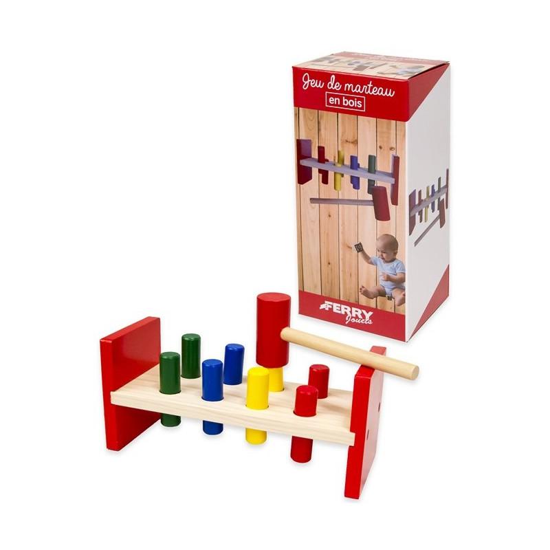 Joc din lemn cu ciocănel, 23 cm  178639