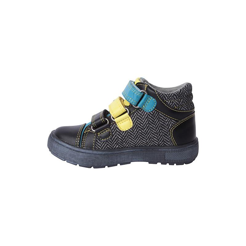 Pantofi pentru băieți cu accente albastre și galbene  1794