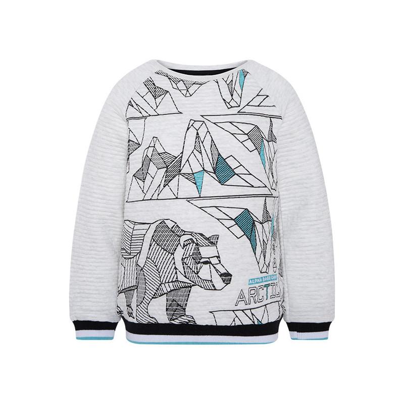 Bluză din țesătură moale de pluș cu mâneci lungi pentru băieți  1830