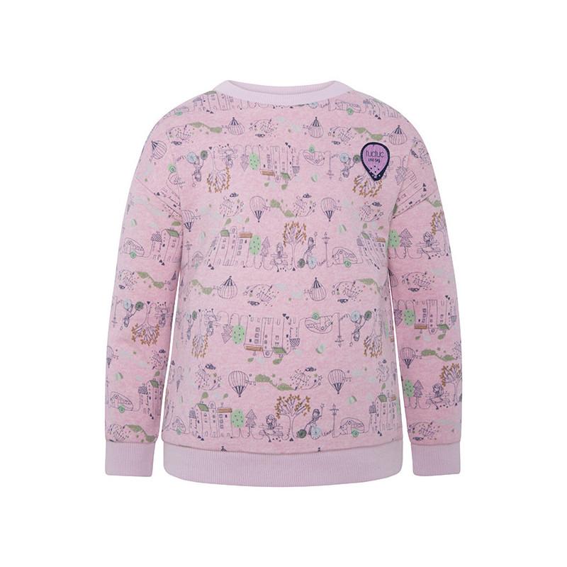 Bluză pentru fete, cu mâneci lungi și imprimeu color  1866
