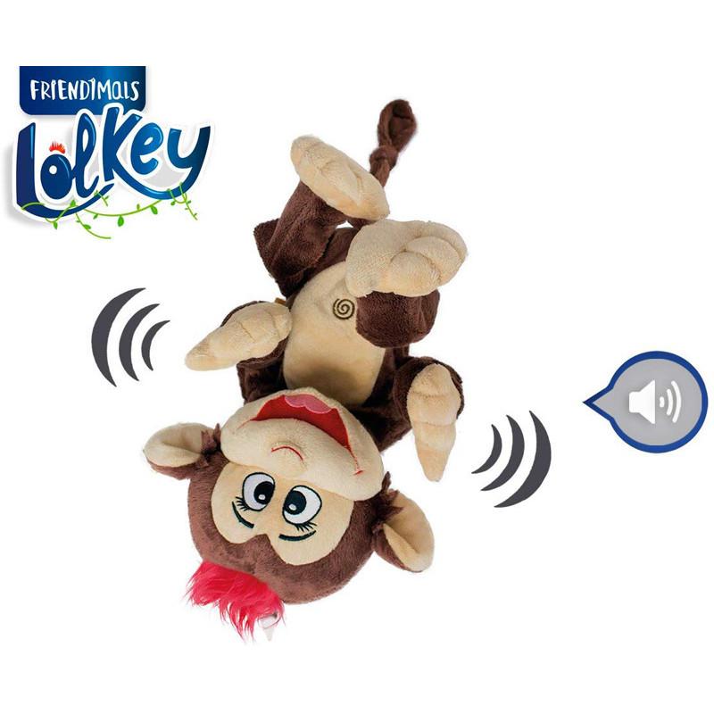Maimuță de pluș care râde, 28 cm  207250