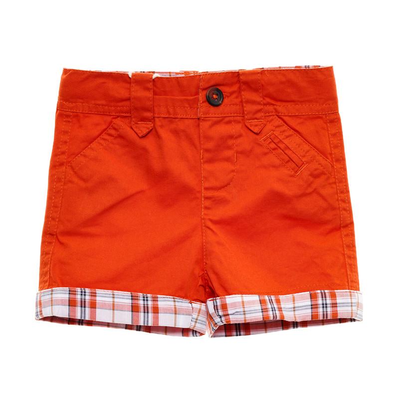 Pantaloni scurți cu detalii în carouri  207269