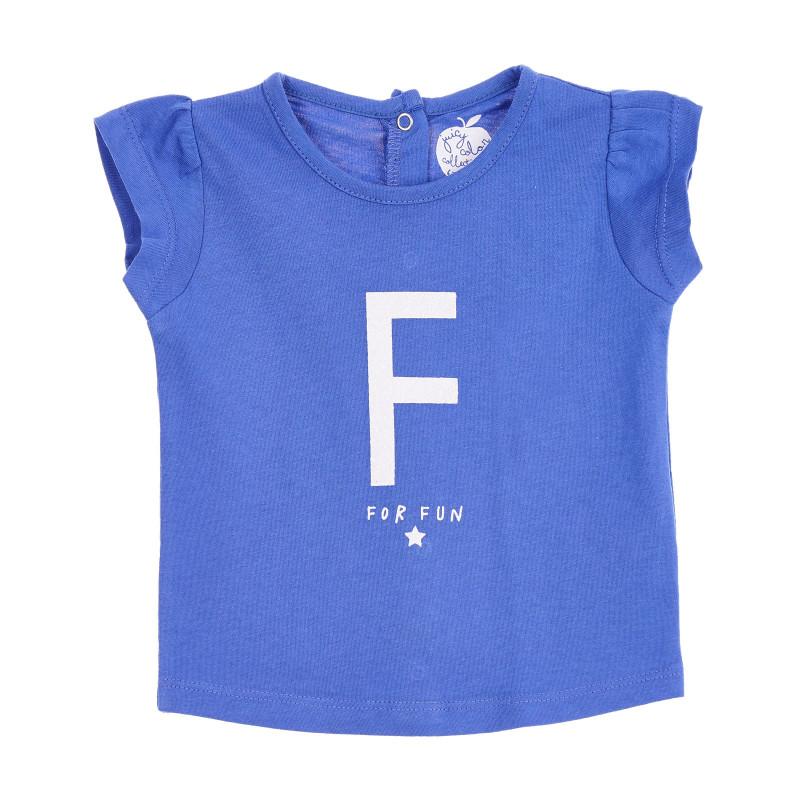 Bluză pentru bebeluși cu mâneci scurte, albastră  207289