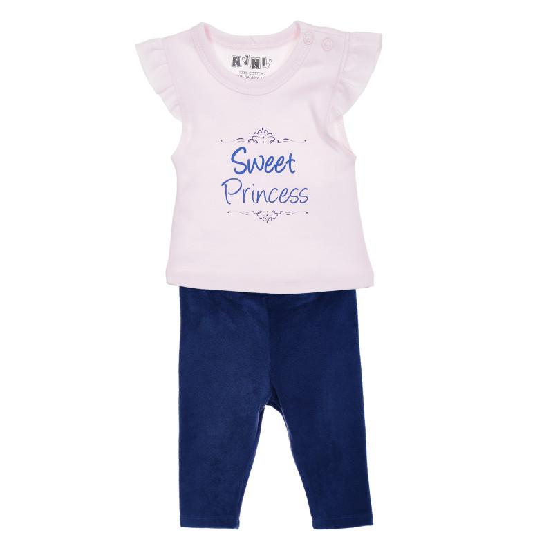 Bluză pentru bebeluși din bumbac, roz  207348