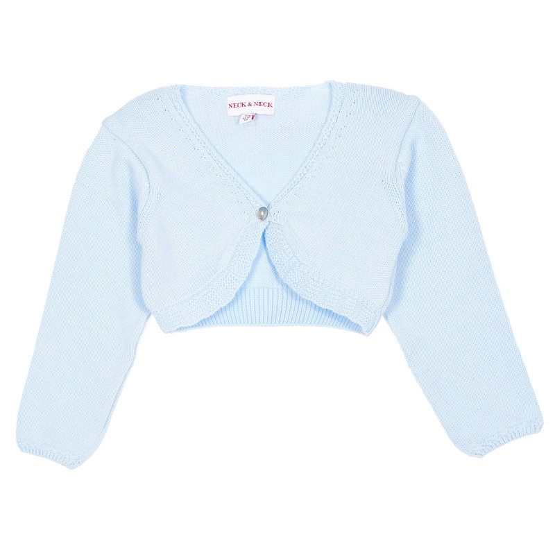 Bolero tricotat pentru copii, albastru  207359
