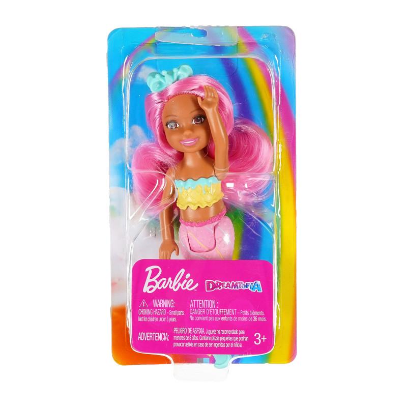 Păpușă sirenă Barbie Dreamtopia cu păr roz  207418