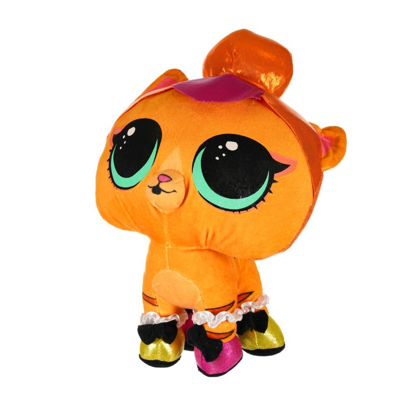 Animăluț de pluș LOL surprise - pisoi portocaliu 24 cm   207428