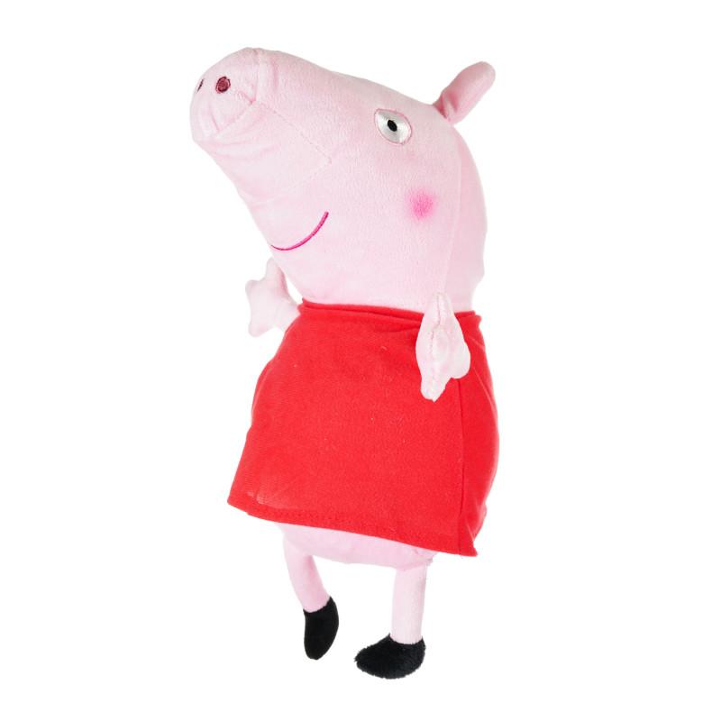 Purcelușa Peppa de pluș cu rochie roșie,  28 cm  207475