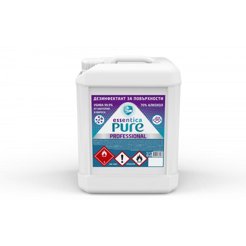 Dezinfectant pentru suprafețe Essentica Pure, tub de plastic, 5 l  207614