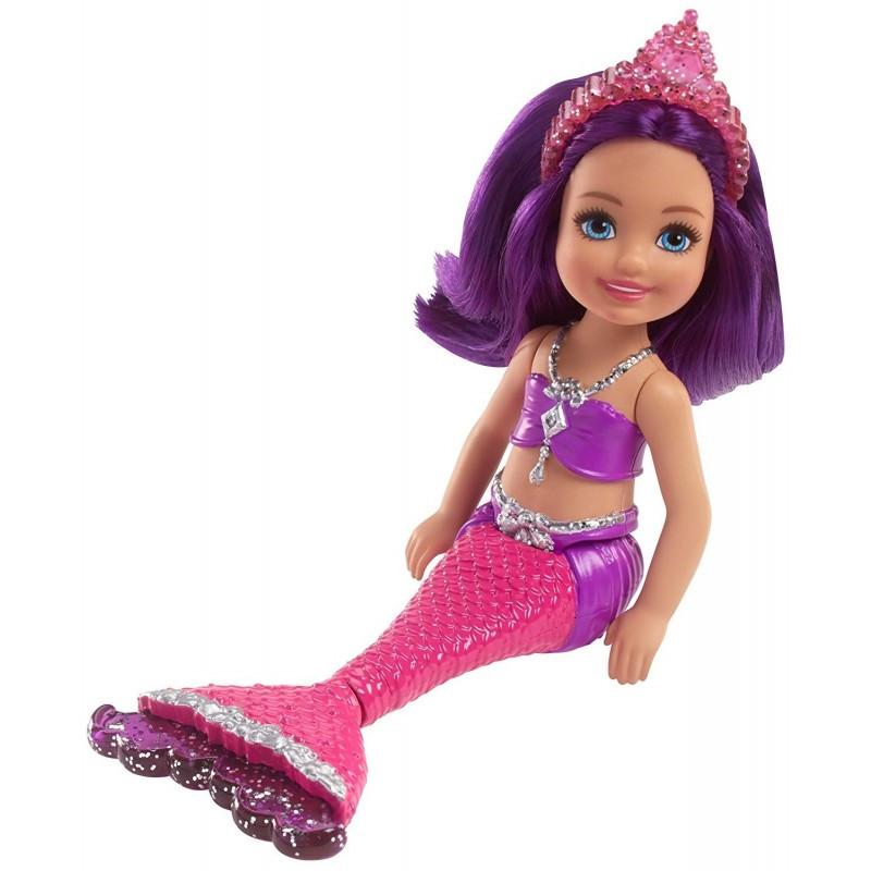 Păpusă sirenă Barbie Dreamtopia cu păr mov  207639
