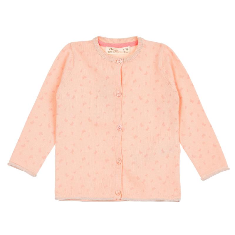 Cardigan cu imprimeu fluture, roz  208396