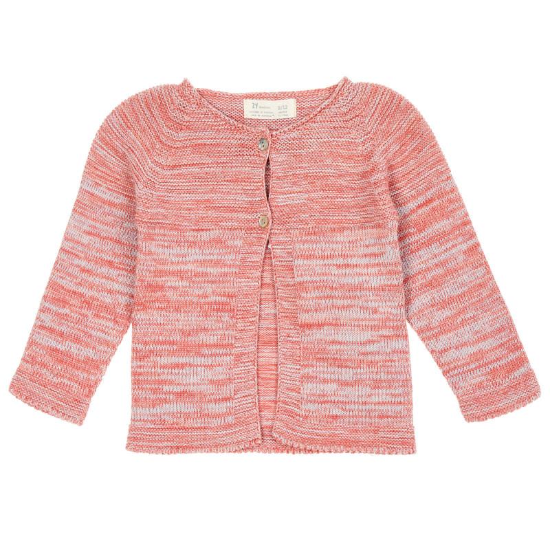 Cardigan din bumbac tricotat cu nasturi sidefati pentru bebelusi  208432
