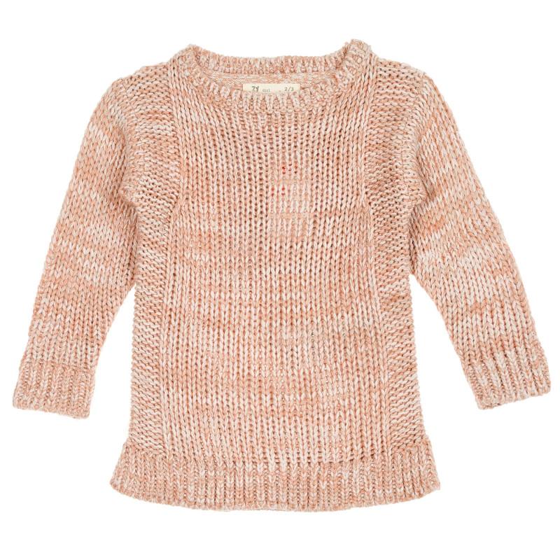 Tunică tricotată în bej pentru fete  208440