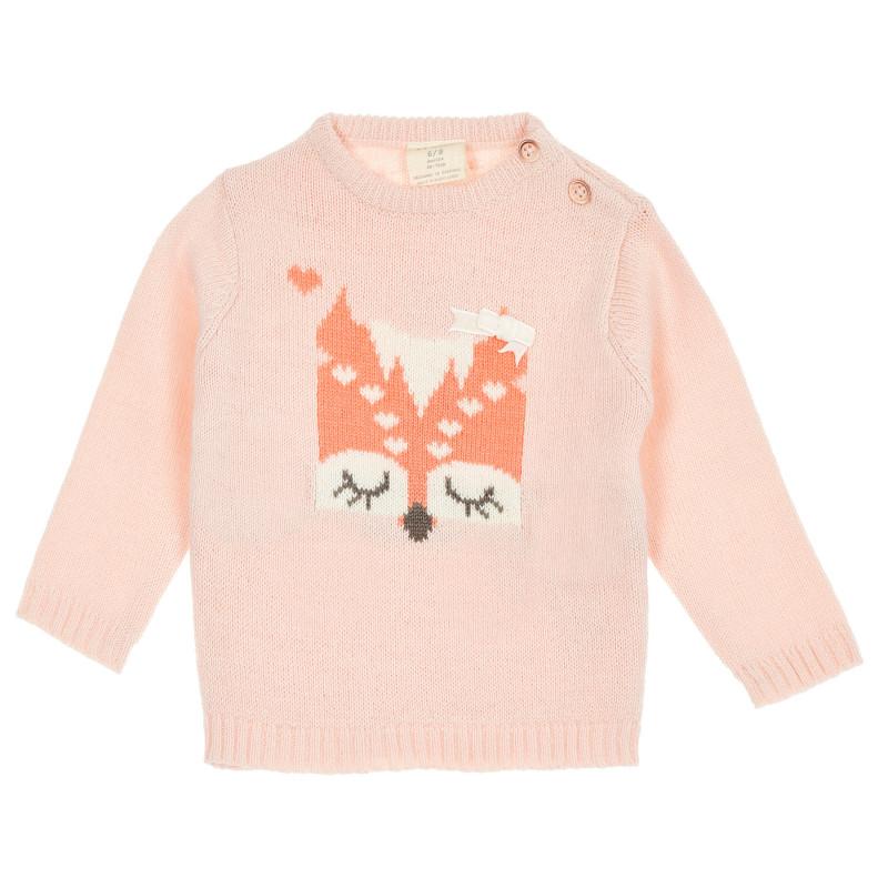 Pulover tip Fox cu panglică pentru bebeluși  208476