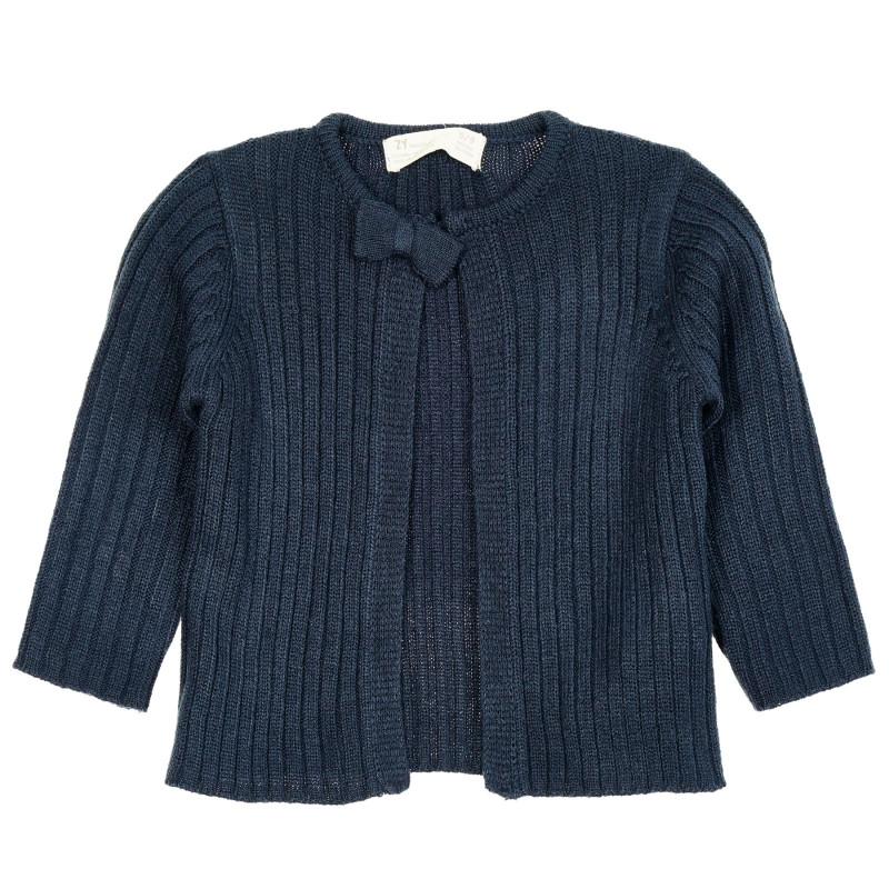 Cardigan cu fundă pentru bebeluș, albastru  208591