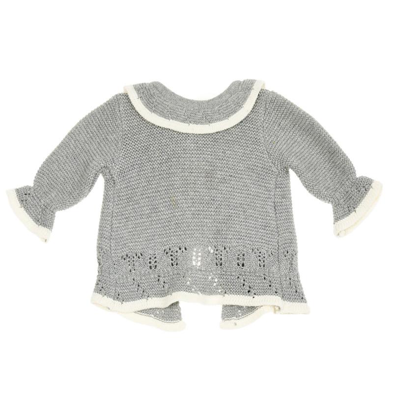Cardigan cu tricot ajurat și guler pentru bebeluși  208779