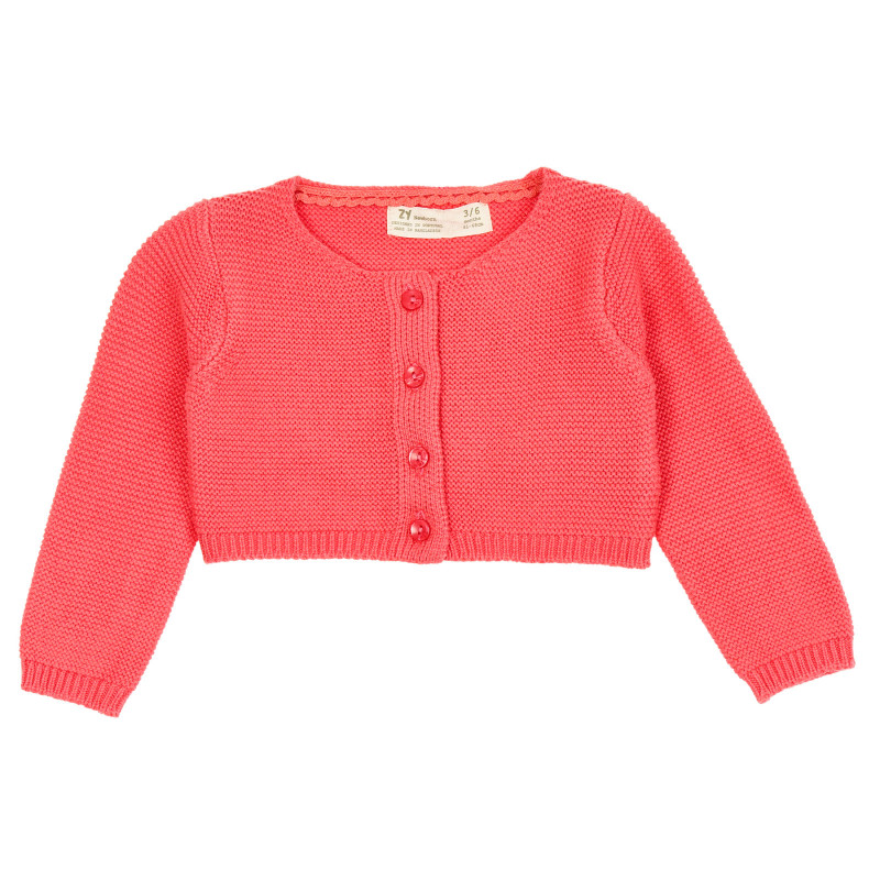 Cardigan scurt tricotat pentru bebeluși, roz  208835