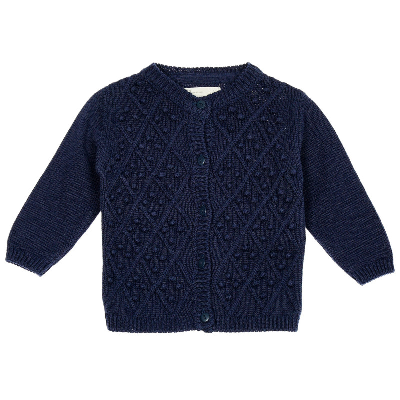 Cardigan pentru bebeluși cu tricot decorativ  209007