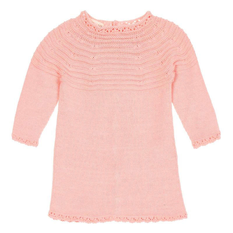 Rochie tricotată pentru bebeluș, roz  209023