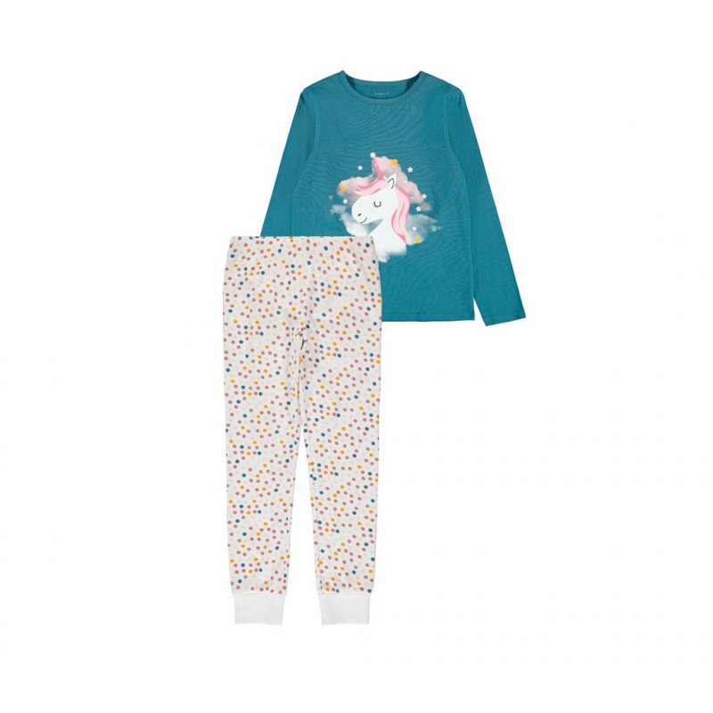 Pijamale din bumbac cu mânecă lungă, din două piese  209487