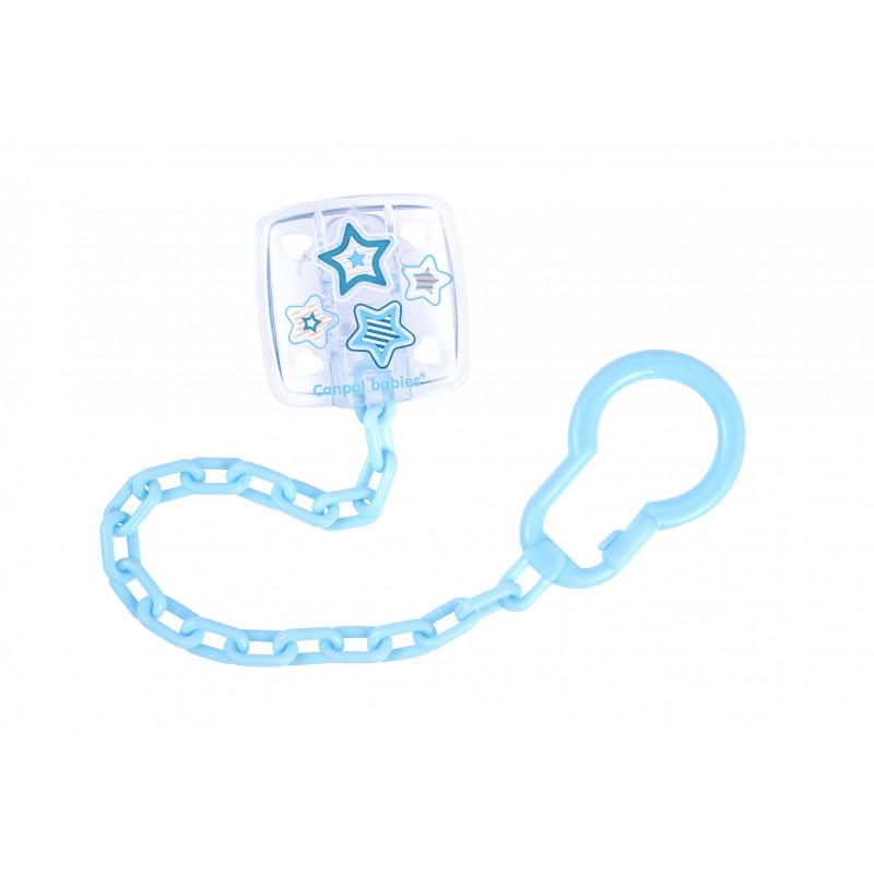 Clips suzetă cu lanț pentru nou-născut, albastru  210935