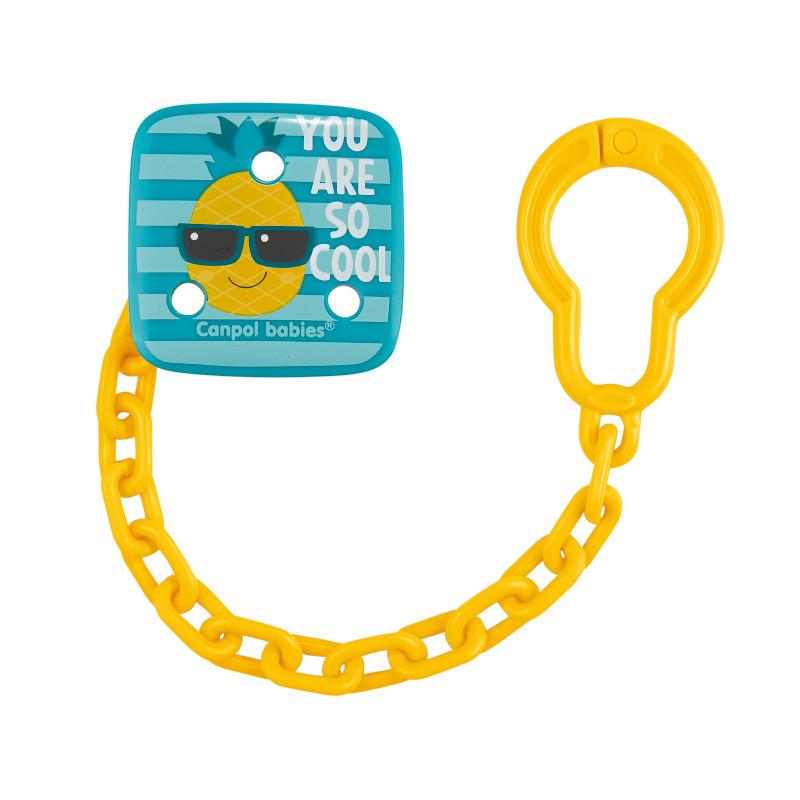 Clip suzetă cu lanț So Cool, ananas  210940