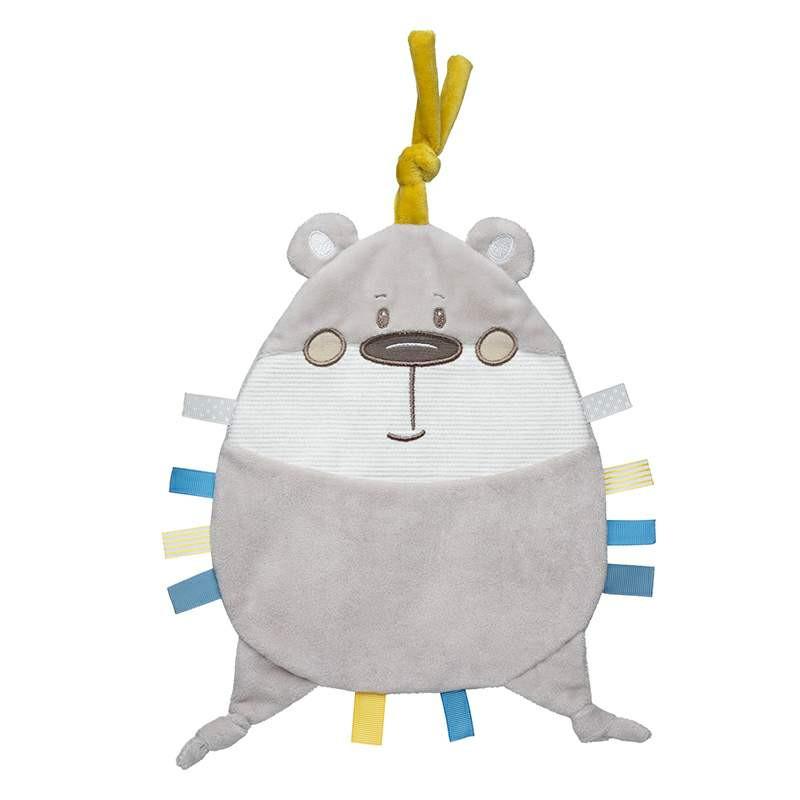 Jucărie de pluș moale, Pastel Friends, ursuleț, gri, 20 cm  211046