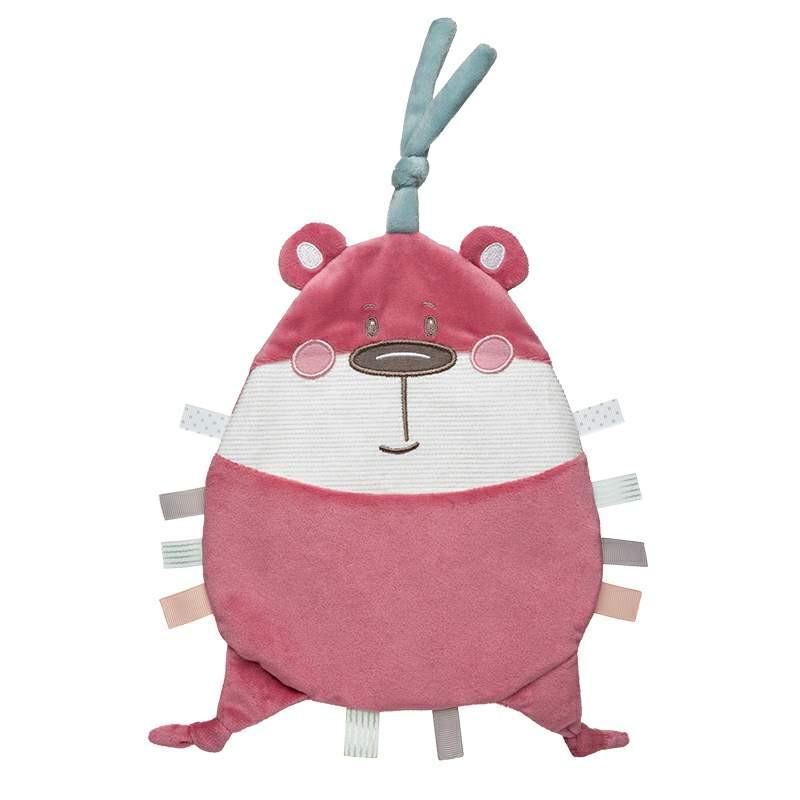 Jucărie de pluș moale, Pastel Friends, ursuleț de pluș, roz, 20 cm  211047