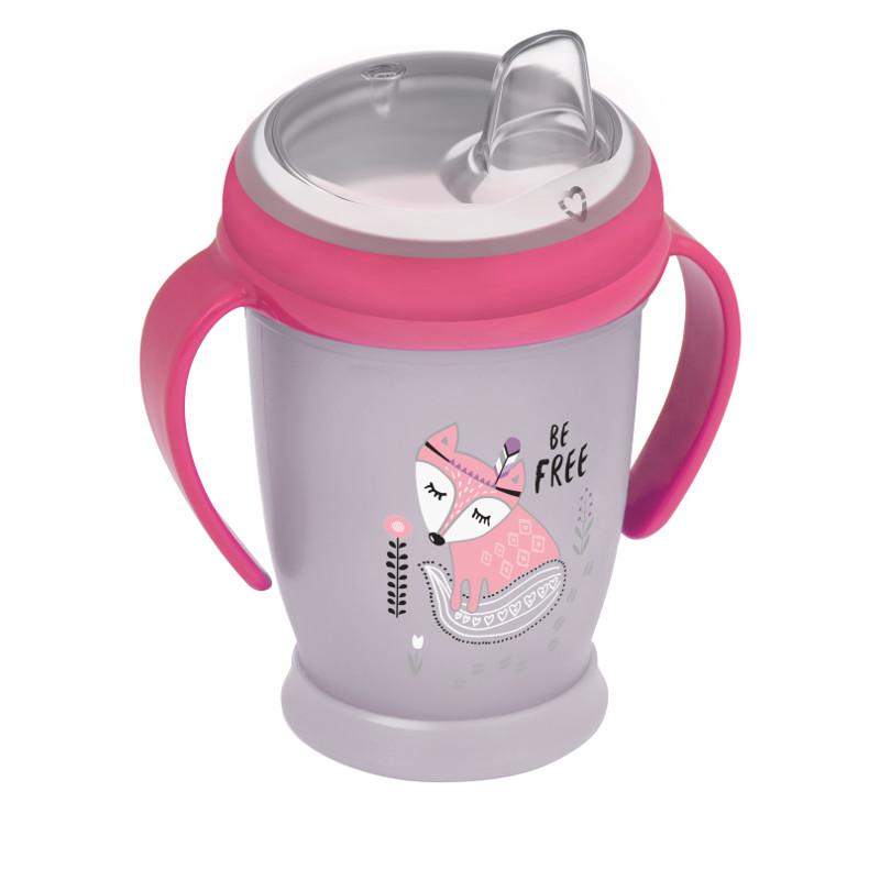 Cană de polipropilenă fără vărsare, Indian Summer, 250 ml., 12+ luni, roz  211105