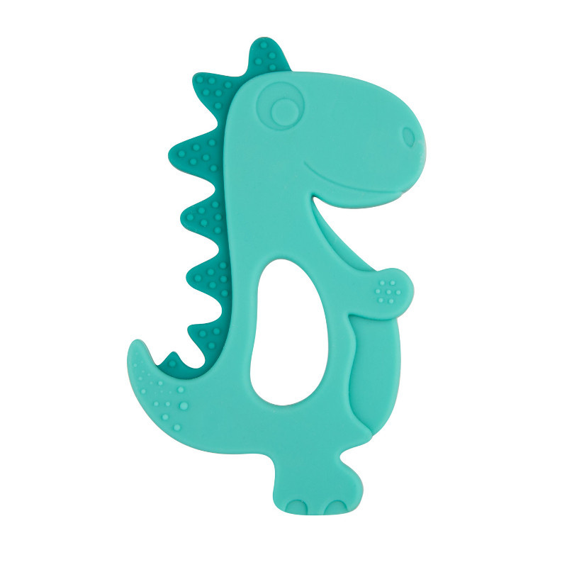 Jucărie dentiție din silicon, dinozaur, albastru  211135
