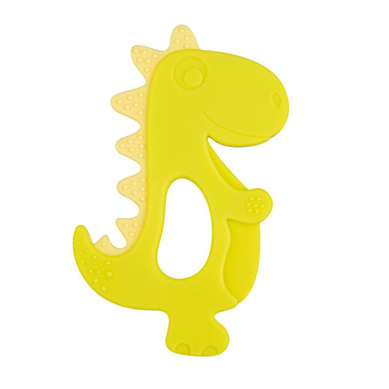 Jucărie din silicon, dinozaur, galben  211136