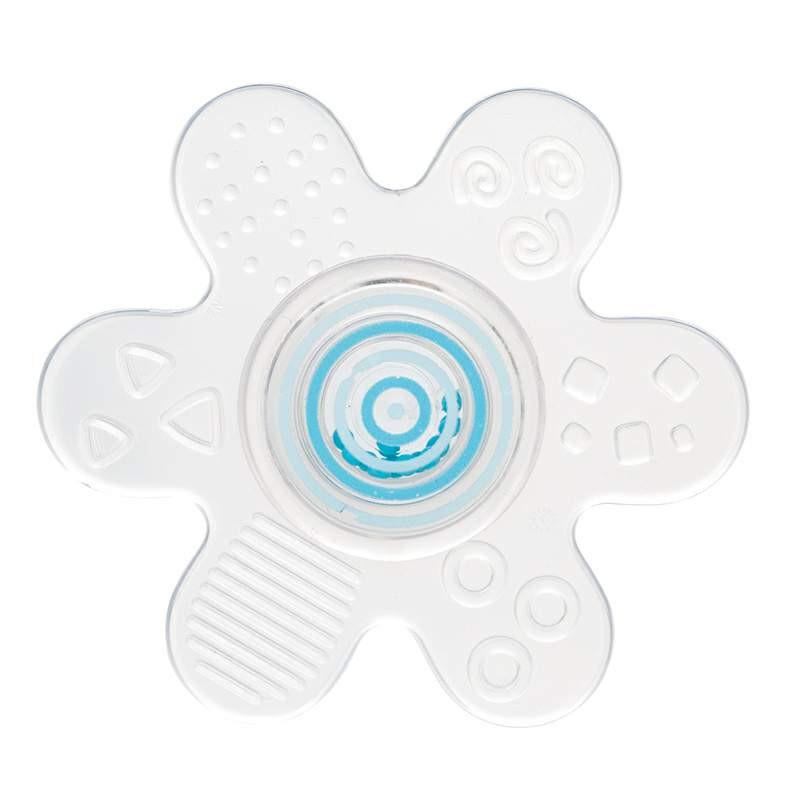 Jucărie de dentiție din silicon cu zornăitoare, Stea, albastră  211139