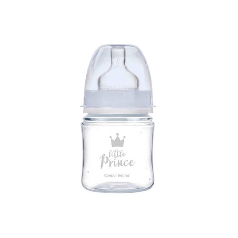 Sticlă Royal Baby din polipropilenă cu tetină cu flux lent, 0+ luni, albastră  211452