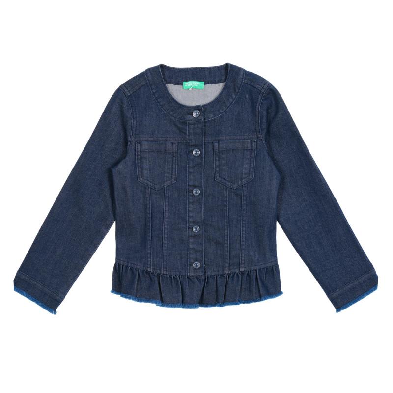 Jachetă din denim cu bucle, albastră  211494