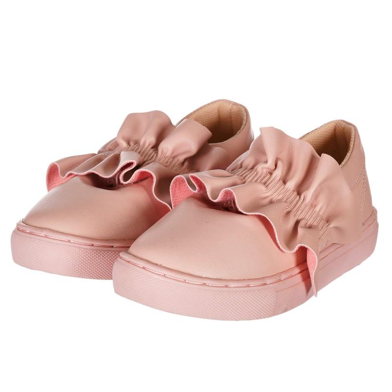 Pantofi roz decorati cu volane  212889