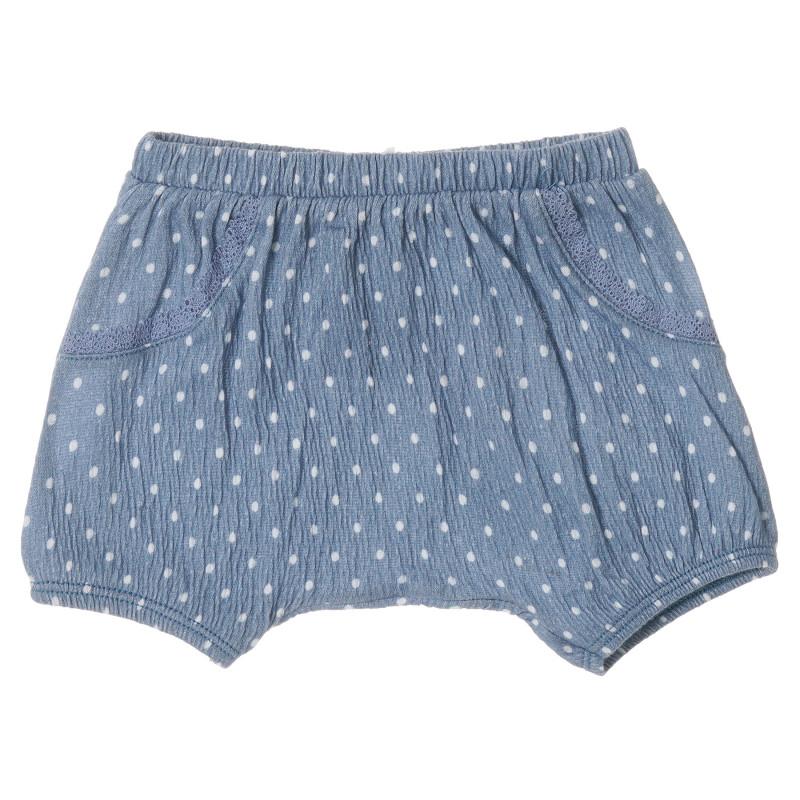 Pantaloni scurți din bumbac cu imprimeu figural pentru bebeluși, albastru  213123
