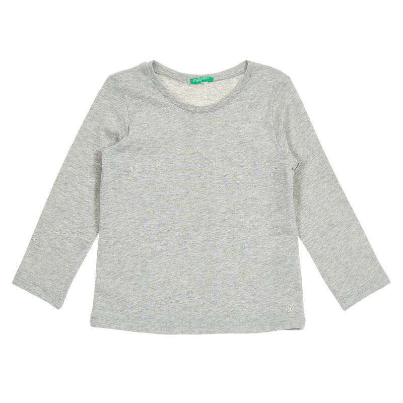 Bluză din bumbac cu mâneci lungi - gri  213806