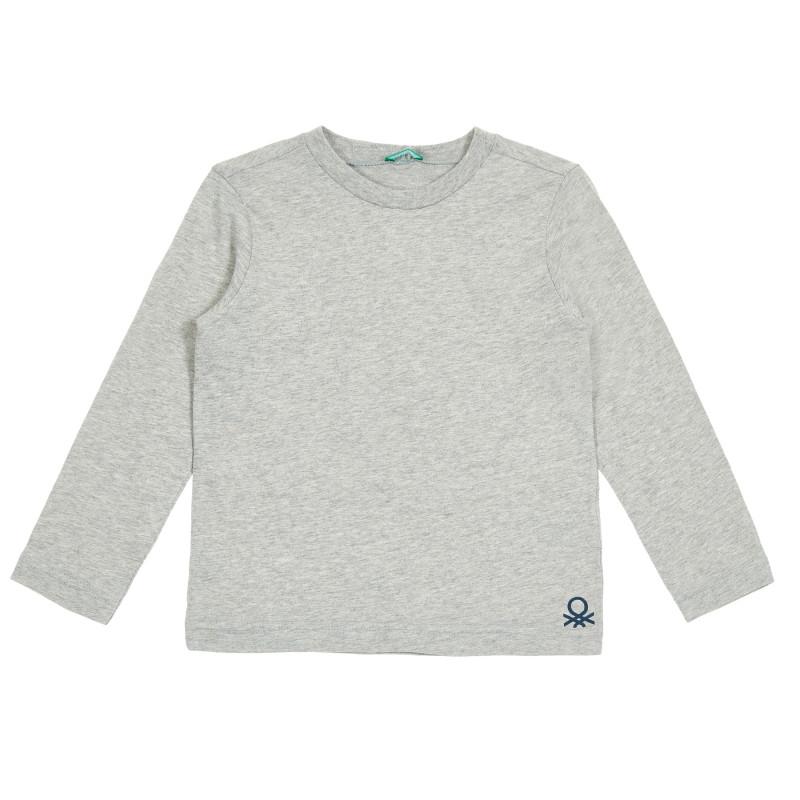 Bluză cu mâneci lungi gri, cu sigla mărcii  213810
