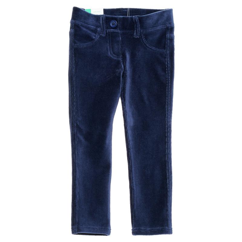 Pantaloni de catifea, albastru închis  213876