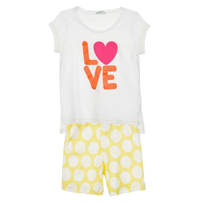 Set tricou și pantaloni scurți colorați, multicolori  213880