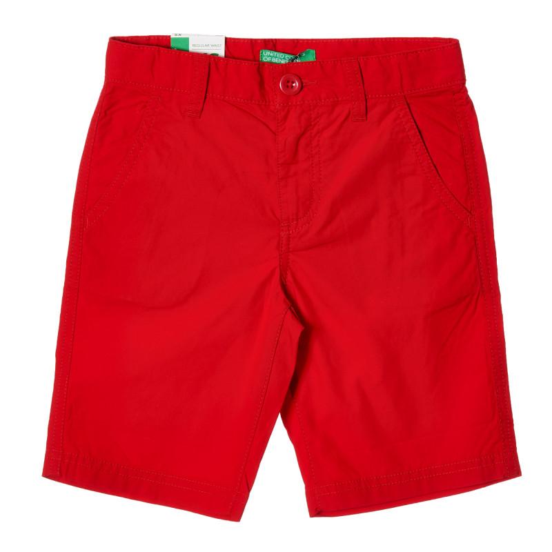 Pantaloni scurți din bumbac, roșii  213995