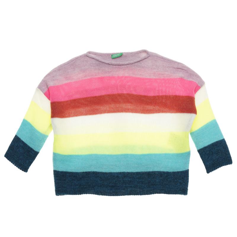 Pulover cu dungi colorate  214324