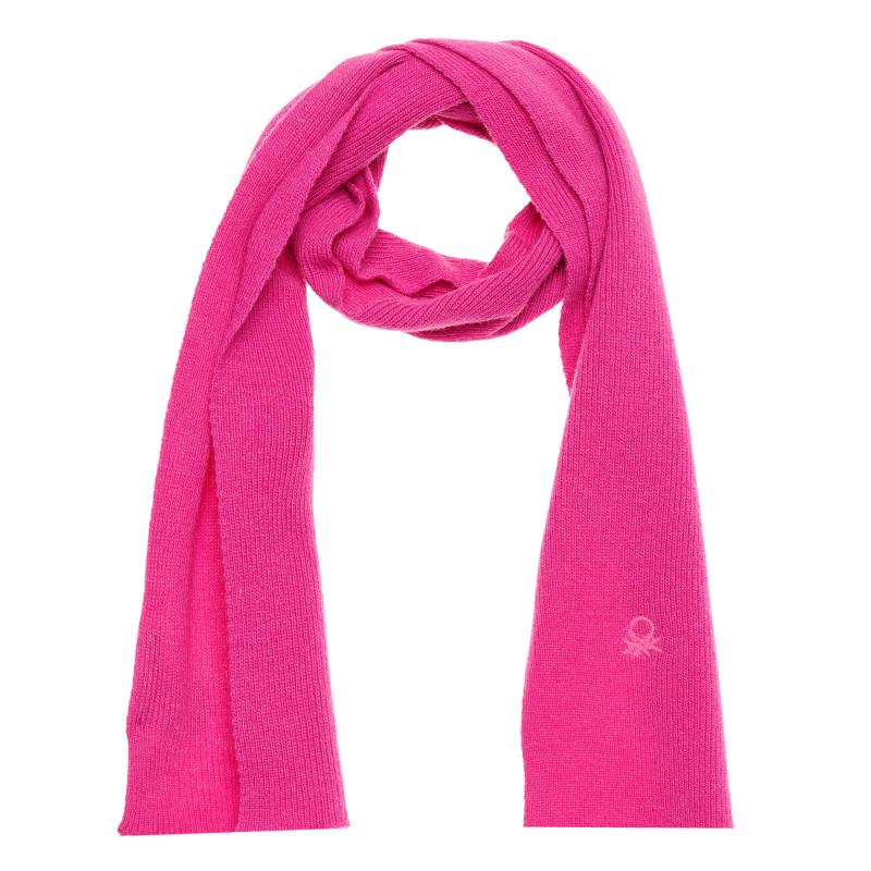 Eșarfă din lână cu logo brodat, roz  214397