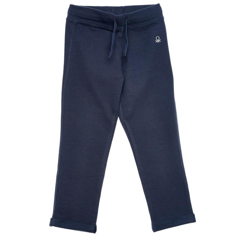 Pantaloni din bumbac cu sigla mărcii, gri  214495