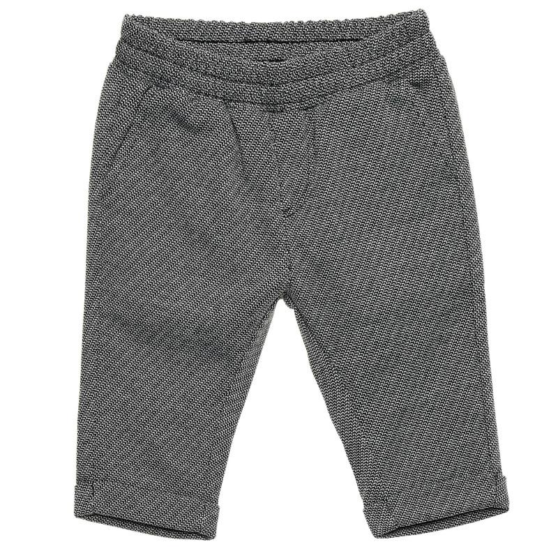 Pantaloni cu tiv îndoit, alb și negru  214530