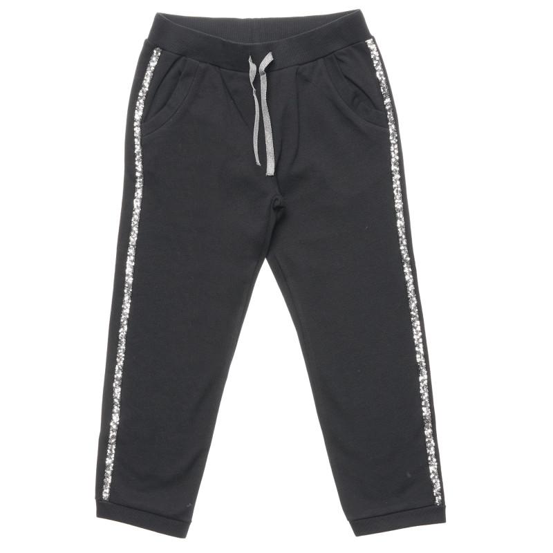 Pantaloni cu paiete, negri  214534